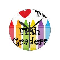 Fifth grade teacher2 round clock