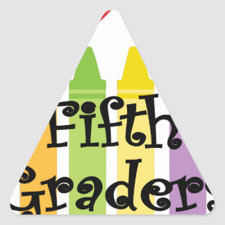 Fifth grade teacher2 triangle sticker