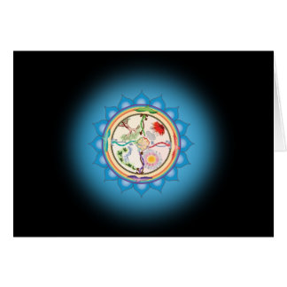 Fifth Step to Soul Card with Fifth Chakra Mantra