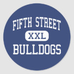 Fifth Street Bulldogs Middle Bangor Maine Round Sticker