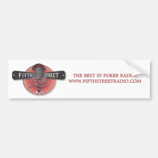 Fifth Street Radio Bumper Sticker Car Bumper Sticker