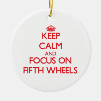 FIFTH-WHEELS96120123.png Double-Sided Ceramic Round Christmas Ornament