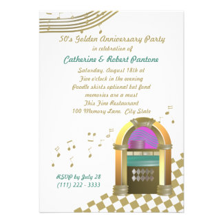 Fifties are Golden Invites