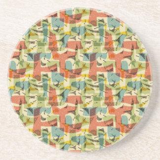 Fifties Atomic Sandstone Coaster