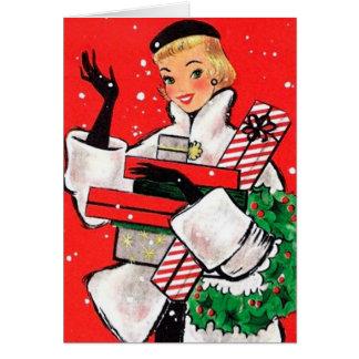 Fifties Christmas Shopper Card