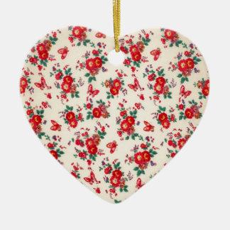 Fifties florals from PJ. Ceramic Ornament