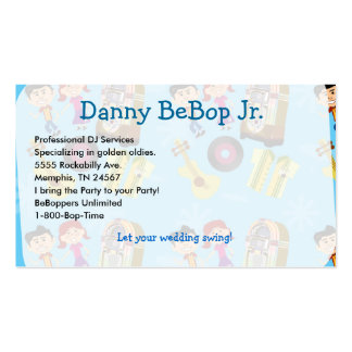 Fifties Fun Sock Hop Double-Sided Standard Business Cards (Pack Of 100)