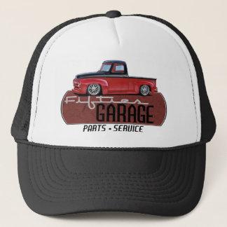 Fifties Garage with Truck Trucker Hat