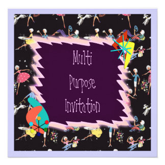 Fifties Girl invitation