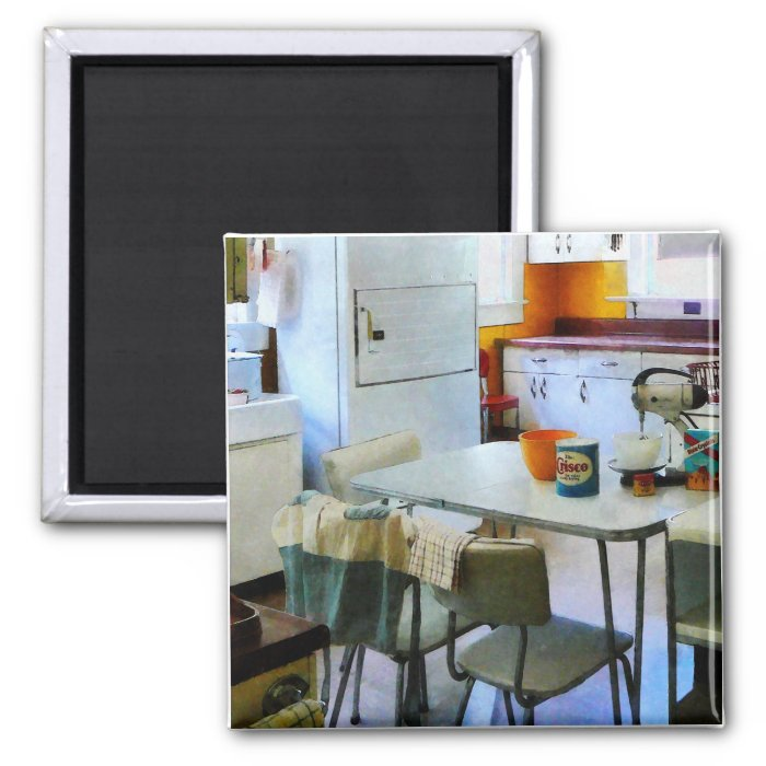 Fifties Kitchen 2 Inch Square Magnet