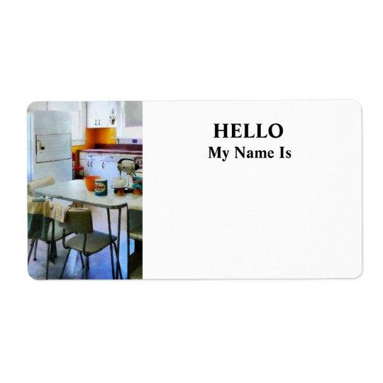 Fifties Kitchen Label