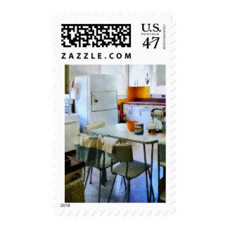 Fifties Kitchen Postage Stamp