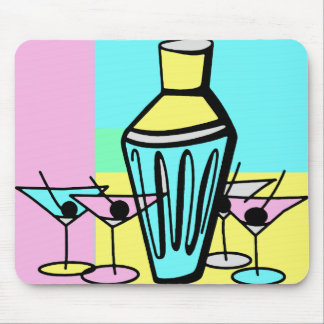Fifties Martini Mouse Pad