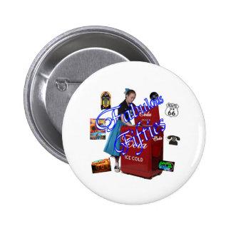 Fifties Memorbilia icons 2 Inch Round Button