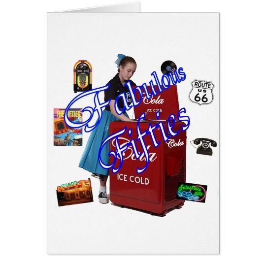 Fifties Memorbilia icons Card