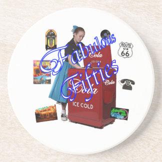 Fifties Memorbilia icons Drink Coaster