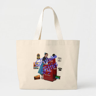 Fifties Memorbilia icons Jumbo Tote Bag