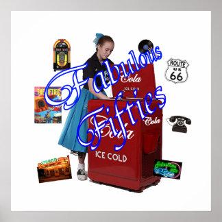 Fifties Memorbilia icons Poster
