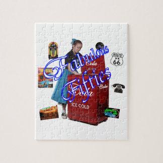 Fifties Memorbilia icons Jigsaw Puzzles