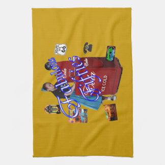Fifties Memorbilia icons Towels