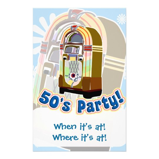 Fifties Party Stationery