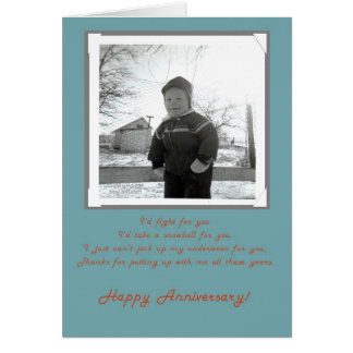 Fifties Photo Happy Anniversary Wife Card