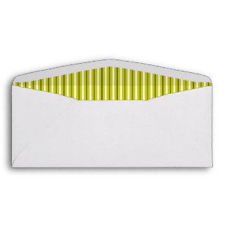 Fifties Pinstripe Business Envelope, Ochre CCCC00 Envelope