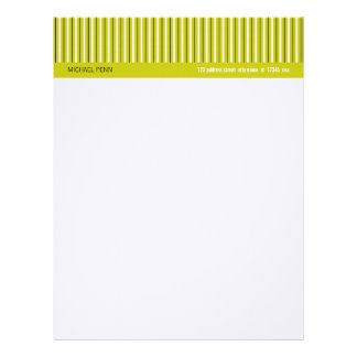 Fifties Pinstripe Letterhead, Ochre CCCC00 Letterhead