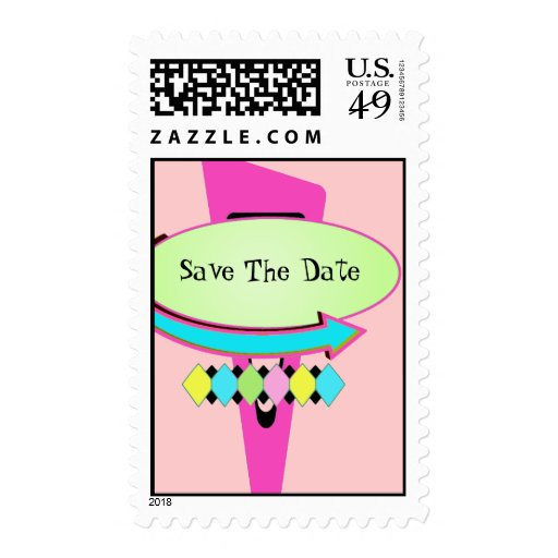 Fifties Save the Date Stamp