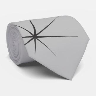 Fifties Stars in Black on Gray Neck Tie
