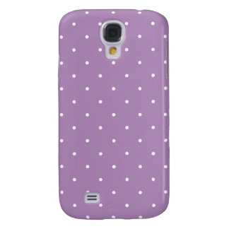 Fifties Style African Violet Purple Polka Dot Galaxy S4 Cover