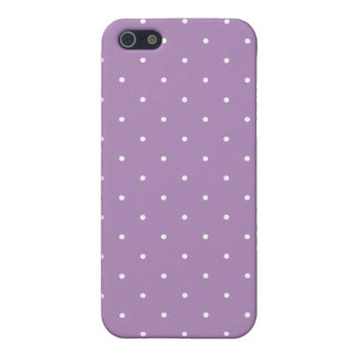 Fifties Style African Violet Purple Polka Dot iPhone SE/5/5s Cover