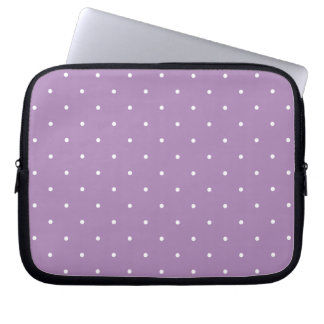 Fifties Style African Violet Purple Polka Dot Laptop Sleeve