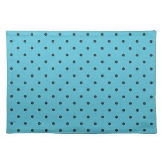 Fifties Style Aqua Polka Dot Cloth Placemat
