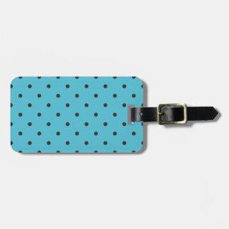 Fifties Style Aqua Polka Dot Tag For Bags