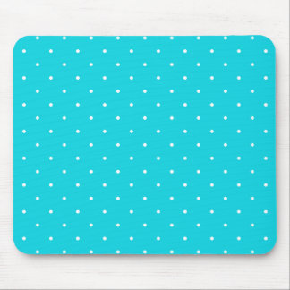 Fifties Style Aqua Polka Dot Mouse Pad