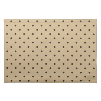 Fifties Style Beige Polka Dot Cloth Placemat