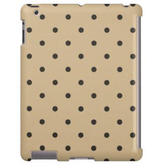 Fifties Style Beige Polka Dot iPad 2/3/4 Case
