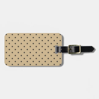 Fifties Style Beige Polka Dot Tag For Luggage