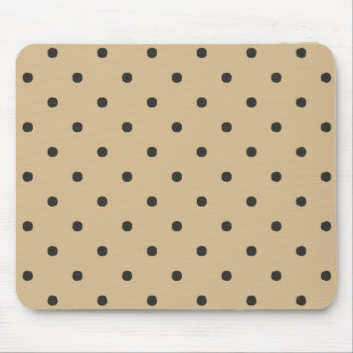 Fifties Style Beige Polka Dot Mouse Pad