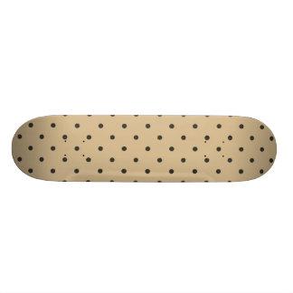 Fifties Style Beige Polka Dot Skateboard Deck
