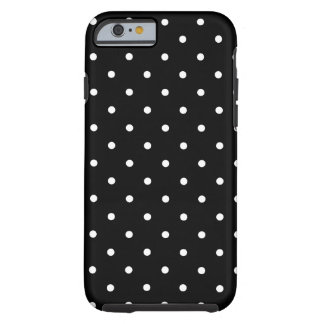 Fifties Style Black and White Polka Dot Tough iPhone 6 Case