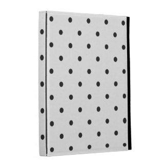 Fifties Style Black and White Polka Dot iPad Case