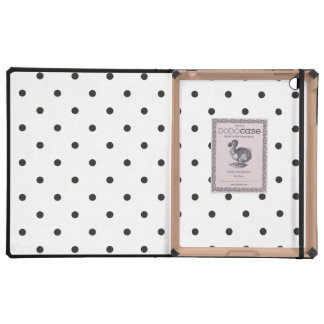 Fifties Style Black and White Polka Dot iPad Folio Cases