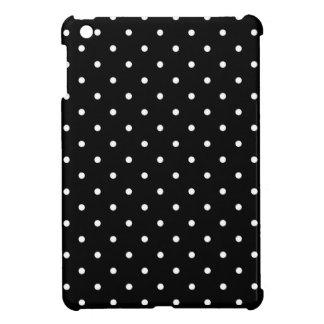Fifties Style Black and White Polka Dot iPad Mini Cover