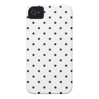 Fifties Style Black and White Polka Dot iPhone 4 Cover