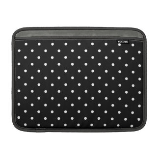 Fifties Style Black and White Polka Dot MacBook Air Sleeve