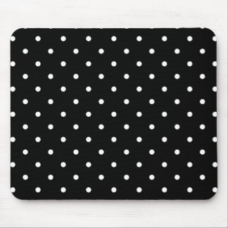 Fifties Style Black and White Polka Dot Mousepad