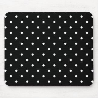 Fifties Style Black and White Polka Dot Mousepad