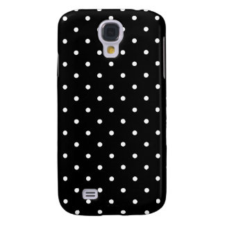 Fifties Style Black and White Polka Dot Samsung Galaxy S4 Case